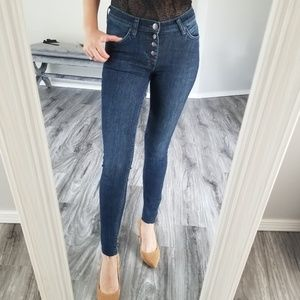 Free people stretchy skinny jeans